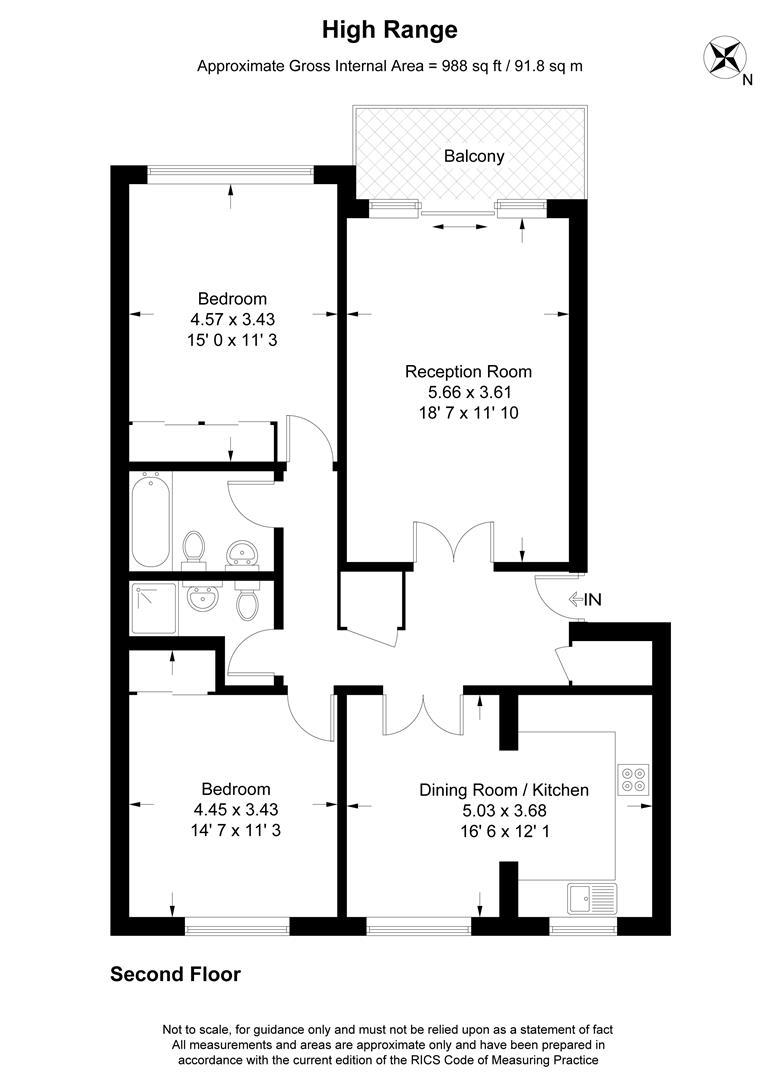 Floorplan for High Range, 2 Lansdowne Road, Wimbledon